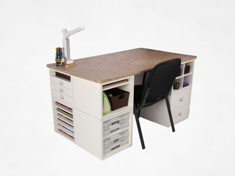 Desk and Eight Cubes Package Deal