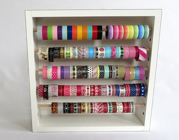 Decorative Tape and Ribbon Storage Rack - Legacy Woodcrafters LLC,  Storage Rack - Legacy Woodcrafters LLC