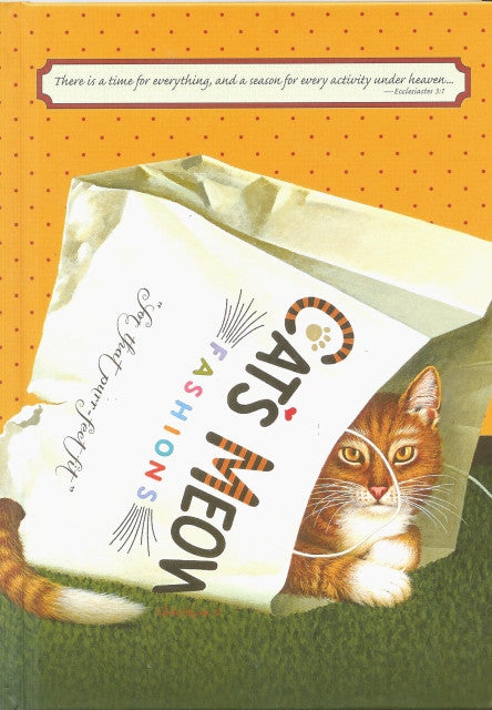 Journal Cat's In Bag with Scripture