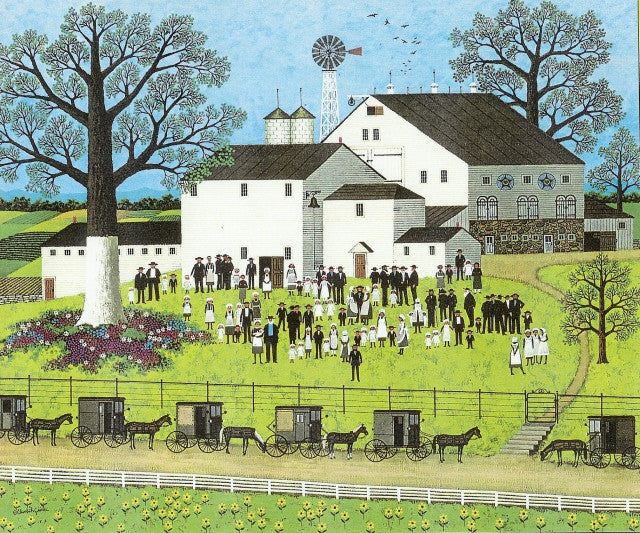 Amish Meeting Calendar Page