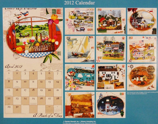 2012 Collector Edition Americana Wall Calendar