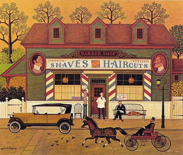 Shaves and Haircuts Calendar Page