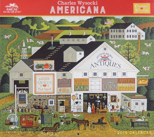 2019 Americana Wall Calendar - Regular Edition