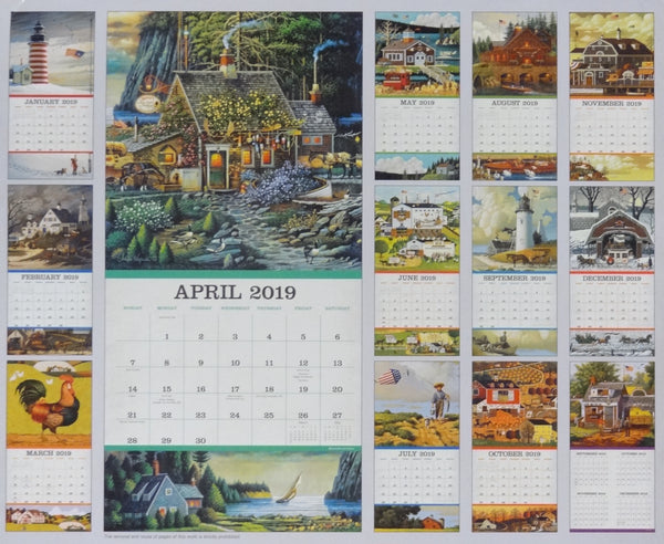 2019 Americana Wall Calendar - Small 16 Month Version #1