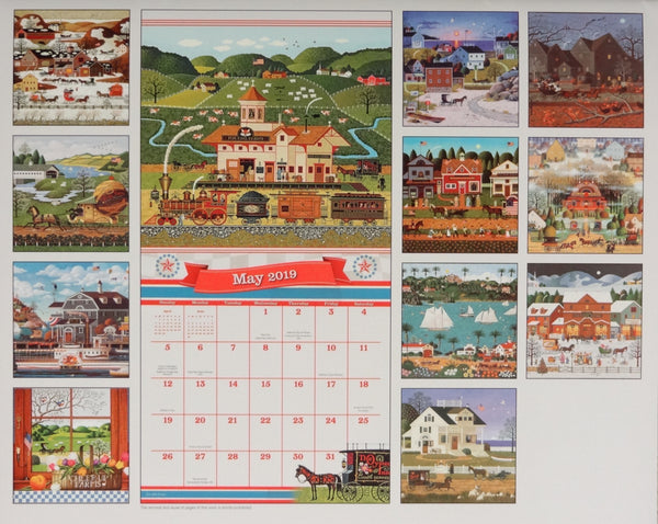 2019 Americana Wall Calendar - Small 16 Month Version #2