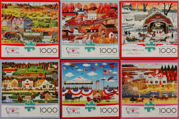 1000 Piece Puzzle Set of Six! Newest Releases!