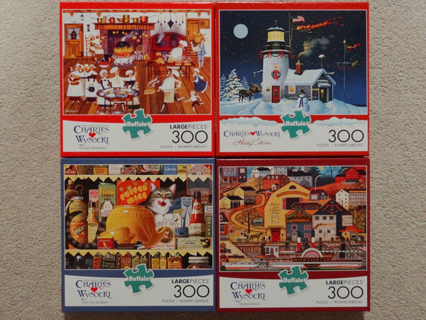 300 Piece Puzzle Set of Four! Newest Releases!