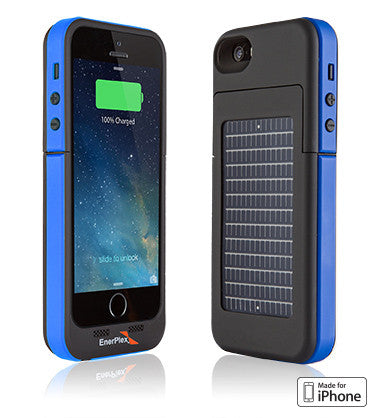 EnerPlex Surfr Solar Battery Case for iPhone 5 5S SE - Blue – techboy.ca 6ce861722a7b