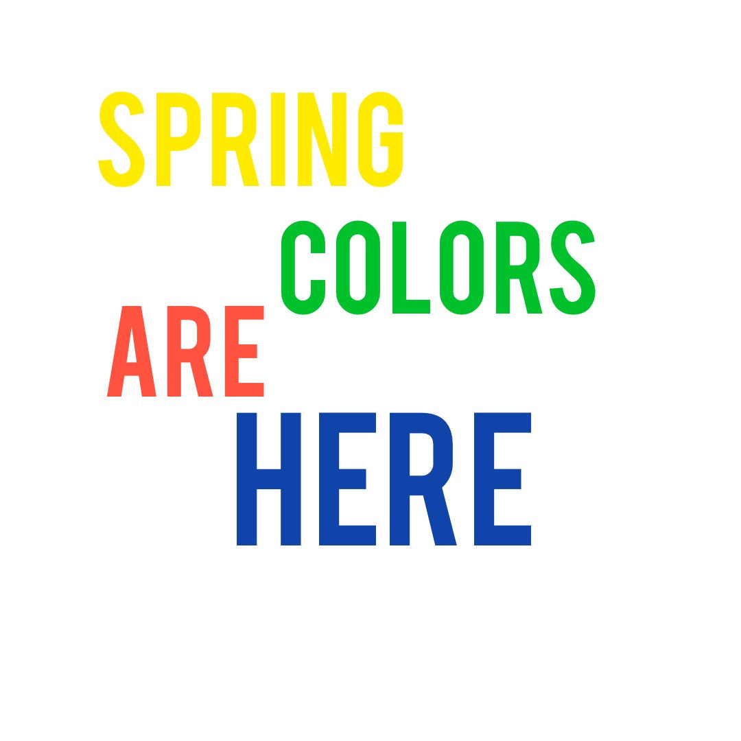 Spring 2016 Colors!