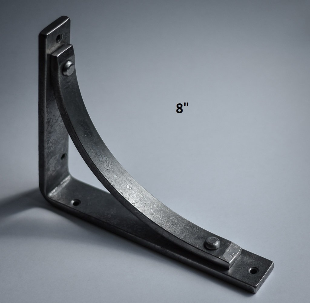 "The Station XHD - Extra Heavy Duty Shelf Brackets - Iron mantel Corbel - Metal Shelf bracket 6"", 8"", 10"", or 12"""