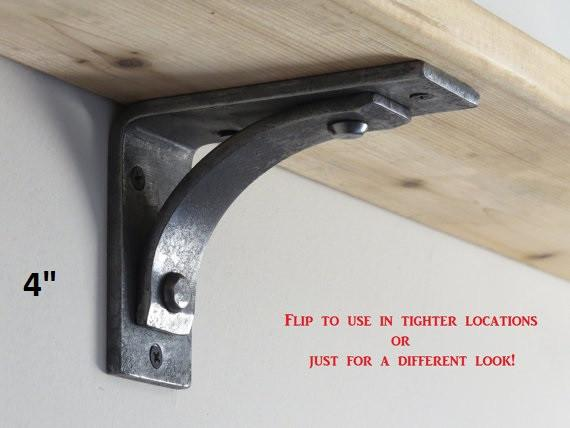 "Station Grande (2"" wide) Shelf Bracket in 4"", 6"", 8"", 10"", or 12"""