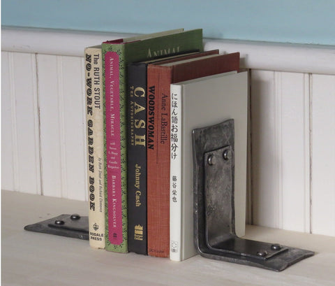 Hand Forged Iron Book Ends Listing is for one pair of bookends