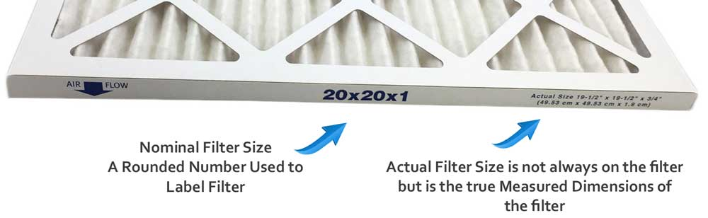 Furnace Filter Size Chart - Atomic Filters