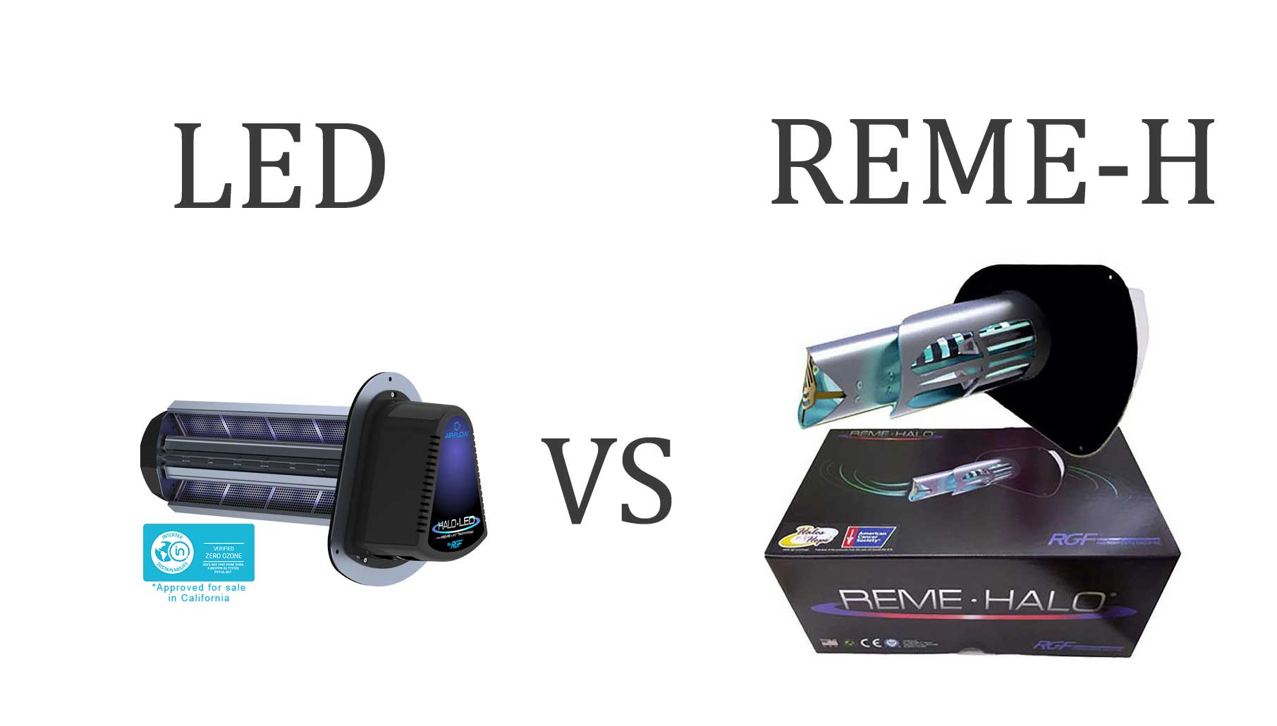REME HALO Vs LED Induct Air Purifiers