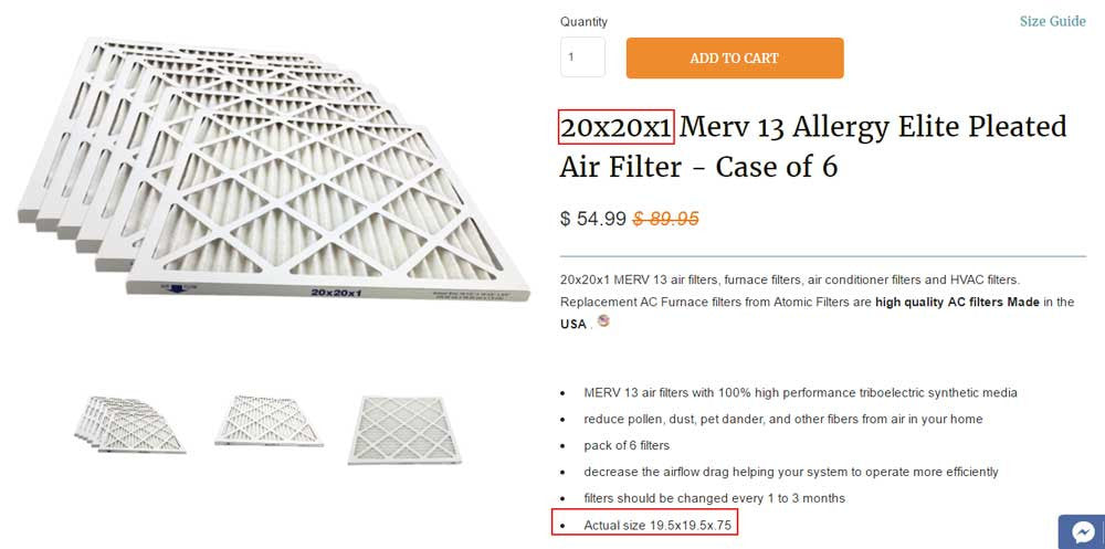 Buying the right 20x20x1 Air filter Atomic