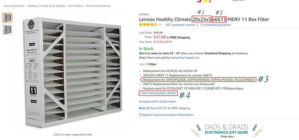 Find The Right Whole House Furnace Filter by Model number and brand