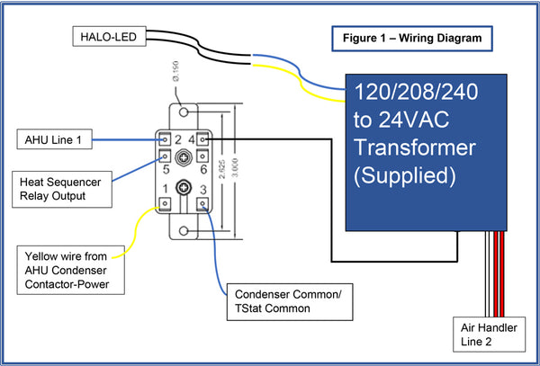 RGF REME HALO LED Installation Wiring Diagram - for Contractors - Atomic  Filters | Hvac Transformer Wiring Diagram Free Picture |  | Atomic Filters