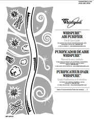 whirlpool whispure ap51030k air purifier air cleaner user manual rh atomicfilters com Whirlpool Electric Air Cleaner Part Refrigerator Cleaner Polish