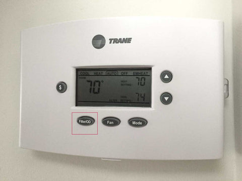 reset filter on thermostat control