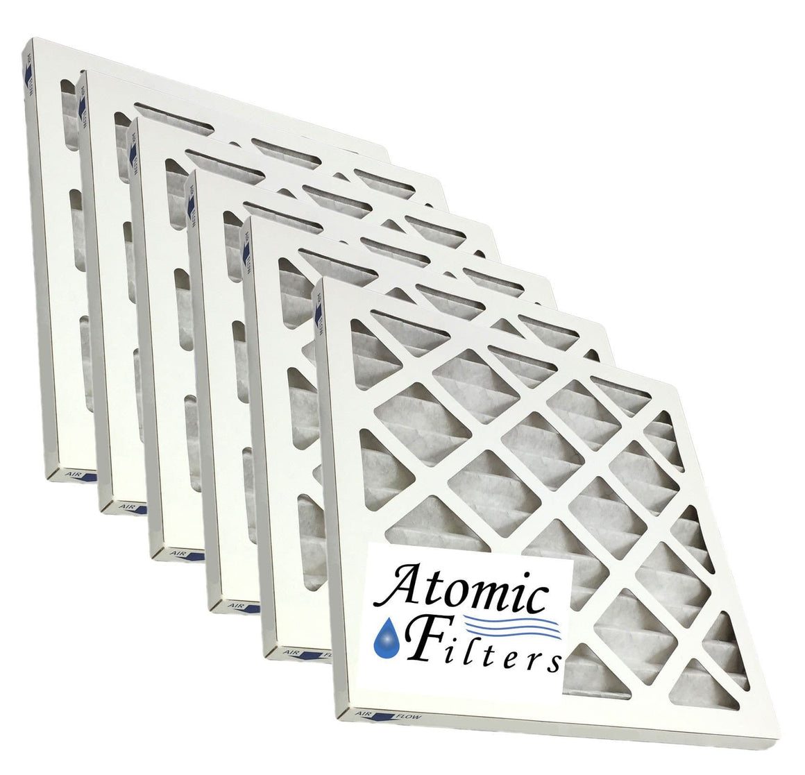 18x18x1 Merv 13 Pleated AC Furnace Filter - Case of 6 by Atomic Filters