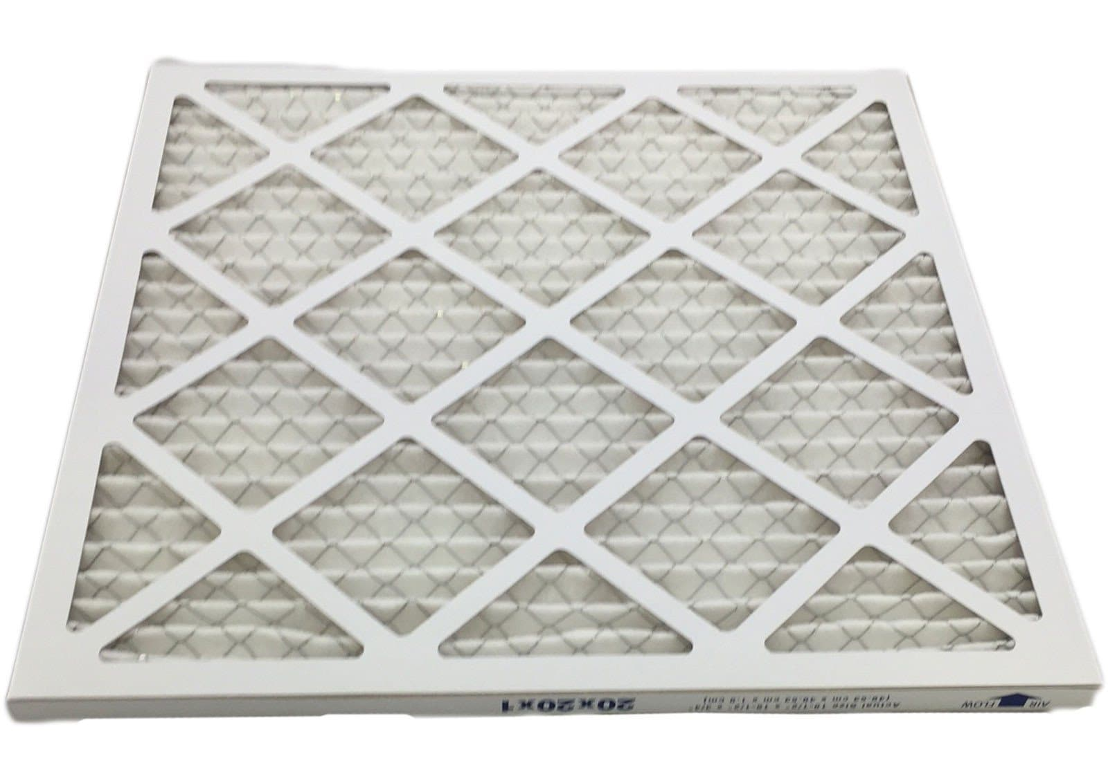 20x20x1 Merv 8 Pleated Ac Furnace Filter Case Of 6