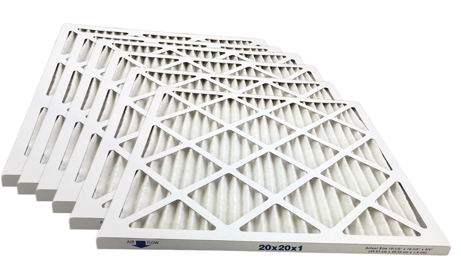 20x20x1 Merv 13 Pleated AC Furnace Filter - Case of 6 by Atomic