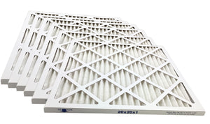 20x20x1 Merv 8 Pleated AC Furnace Filter - Case of 6 by Atomic