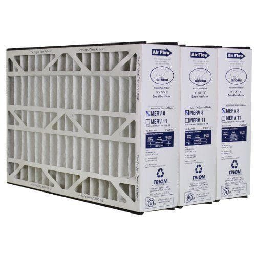 "Trion Air Bear 255649-105 - Pleated Furnace Air Filter 16""x25""x5"" MERV 8 (3 Pack)"