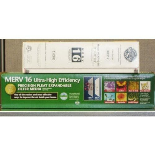 "Lennox X8312 - MERV 16 Expandable Filter 16"" x 25"" x 5"" - Genuine Lennox Product by Lennox"