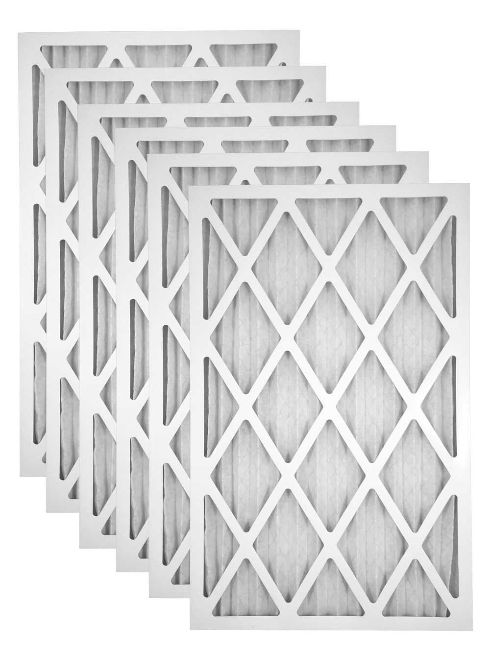 16x25x1 Merv 11 Pleated AC Furnace Filter - Case of 6