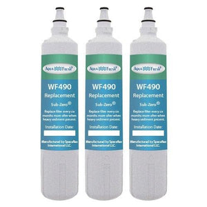 Aqua Fresh Replacement Filter For Sub Zero 4204490 / WF490 (3-Pack)