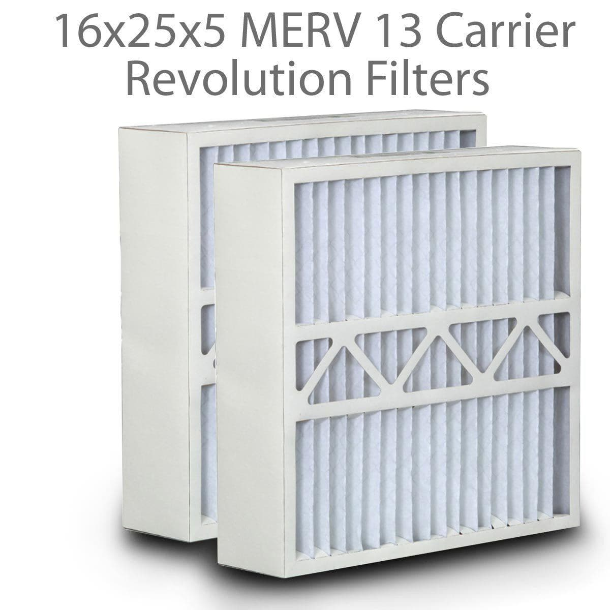 16x25x5 MERV 13 Carrier Revolution Filters DPFWG16X25X5M13