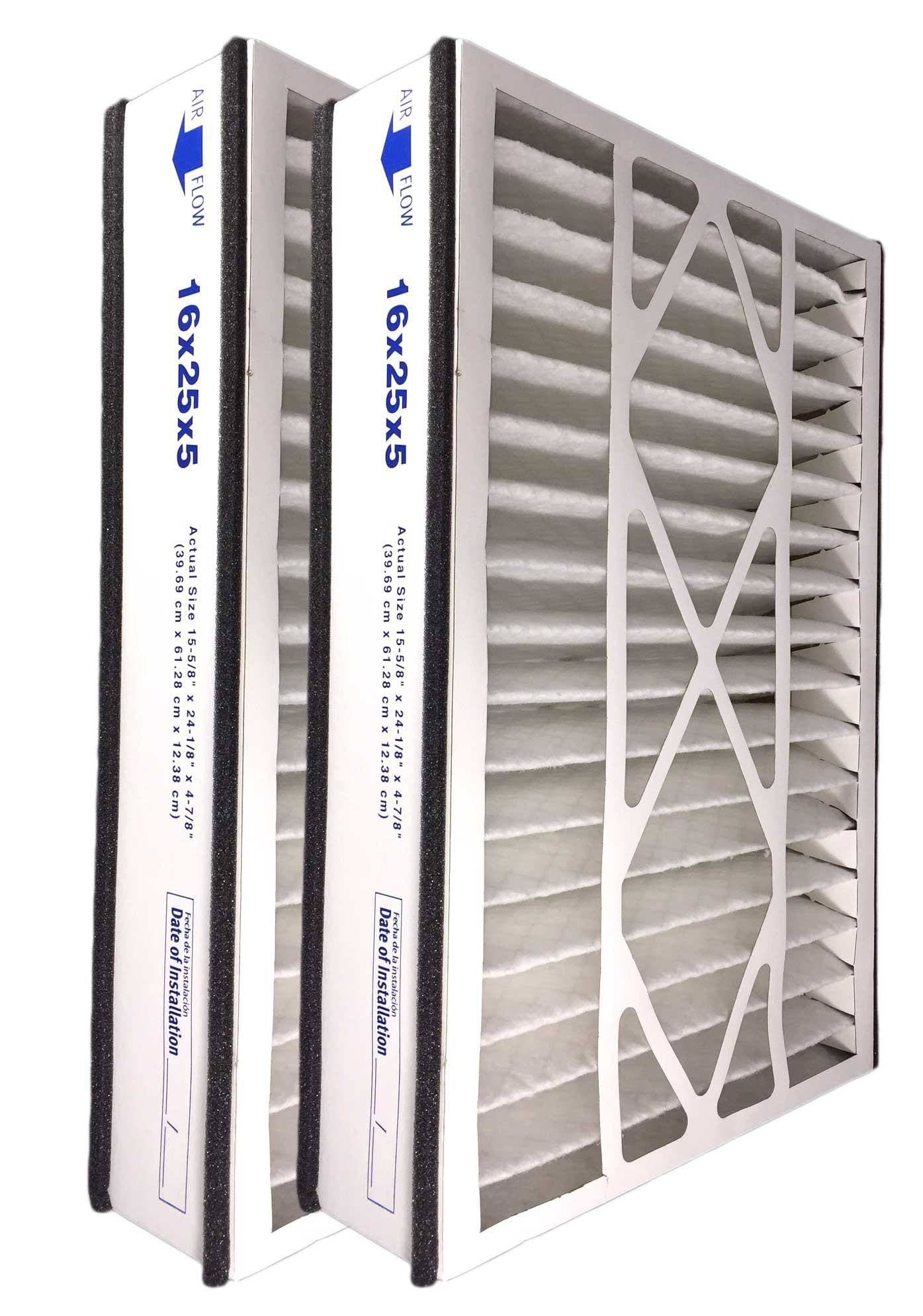 Atomic Compatible 16x25x5 MERV 13 Air Bear Replacement Whole House Filter-2 Pack