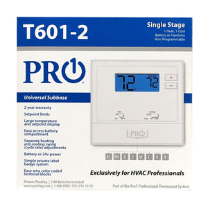 T600 PF:non-programmable 1H/1C with 2 sq. in. display T601-2