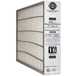 Lennox 17x26x4 MERV 16 Pleated Air Filter Media X6666