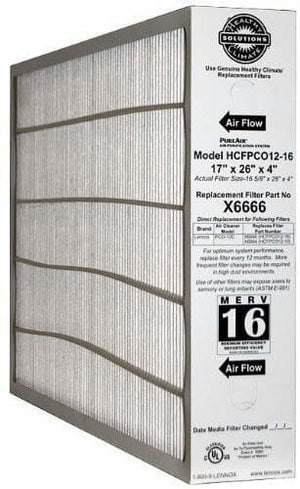 Lennox X6666 17x26x4 (16-5/8x26)  OEM MERV 16 Replacement Furnace Filter- 1 pack