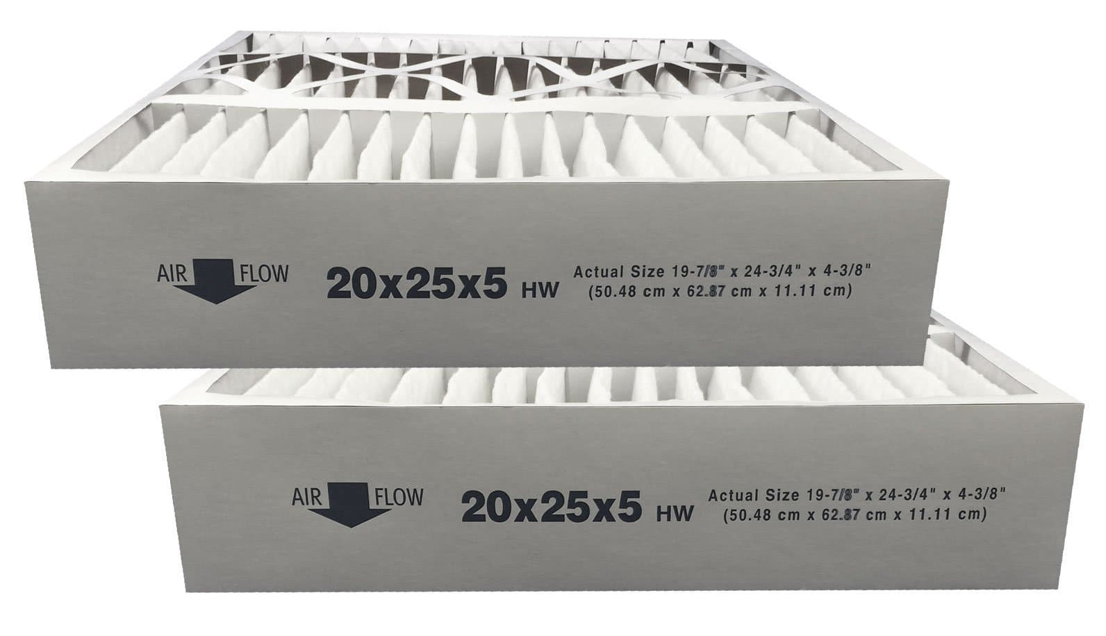 MERV 11 Replacement For Honeywell F100F1038 20x25x5 Air Cleaner Filter 2 Pack