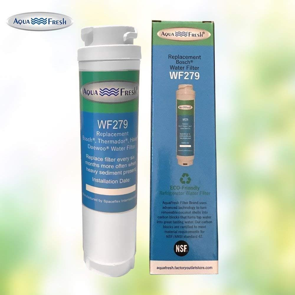 Aquafresh WF279 Replacement for Bosch 644845 Ultra Clarity, Haier 0060820860, Miele KWF1000 Refrigerator Water Filter