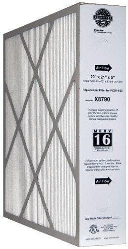 Lennox X8790 MERV 16 PLEATED Furnace Filter 20x21x5
