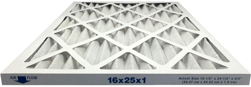 16x25x1 Merv 13 Allergy Elite Pleated AC Furnace Filter - Case of 6