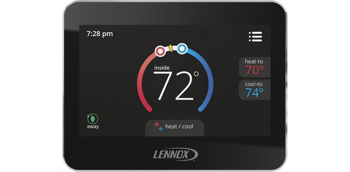 Lennox 13H14 CS7500 Comfortsense 7500, Universal Programmable Thermostat, 7-Day, 4 Heat/2 Cool, Multi-Stage, Dual Fuel Capable