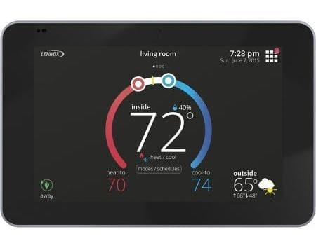 "Lennox 15S63 Lennox iComfort E30 Universal Smart Programmable Thermostat, 7"" HD Color Display, Geo-Fencing, Remote Access, Alexa and Apple HomeKit Compatible"