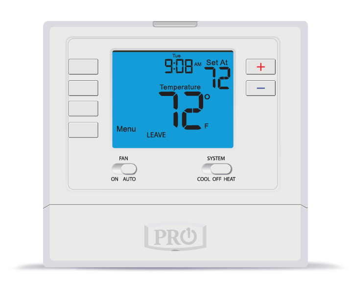 PRO1 IAQ PRO1 T705 Single Stage AC Programmable Digital Thermostat