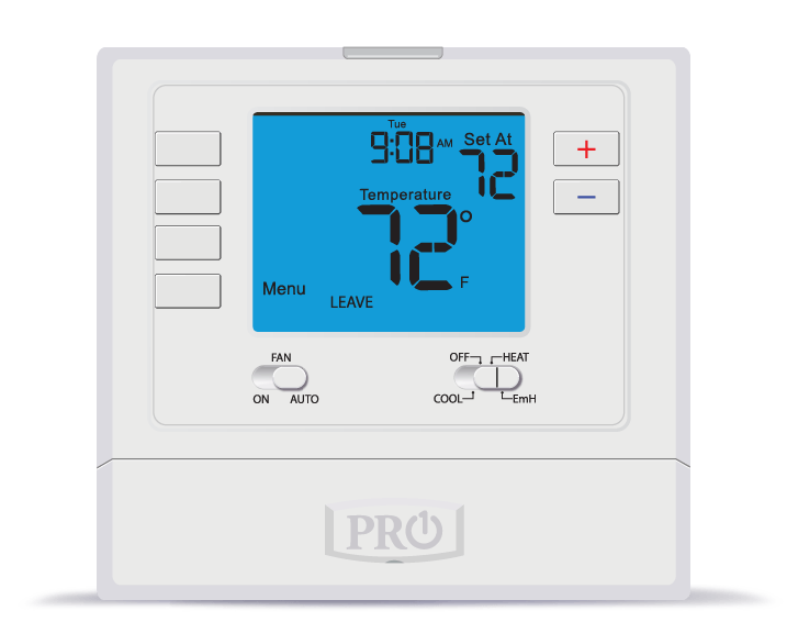 PRO1 IAQ T725 Programmable 2H/1C Digital Heat Pump Thermostat