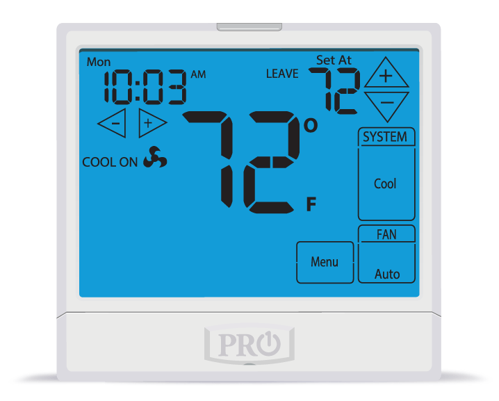 PRO1 IAQ T905 Universal Programmable 1H/1C Touchscreen Digital Thermostat