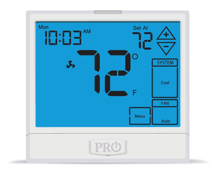 PRO1 IAQ T955 Touchscreen 3 Hot/2 Cold 7 Day Thermostat