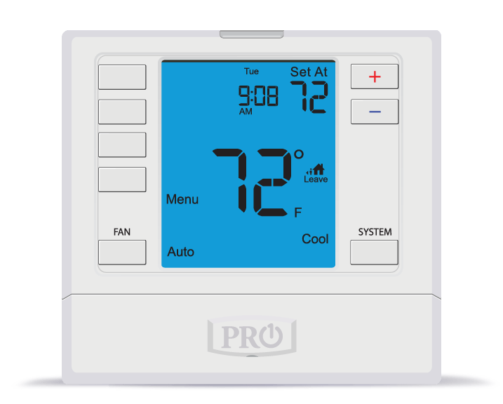 Pro1 T755H Programmable Multi-Stage Thermostat up to 3H/2C w/Humidity Control