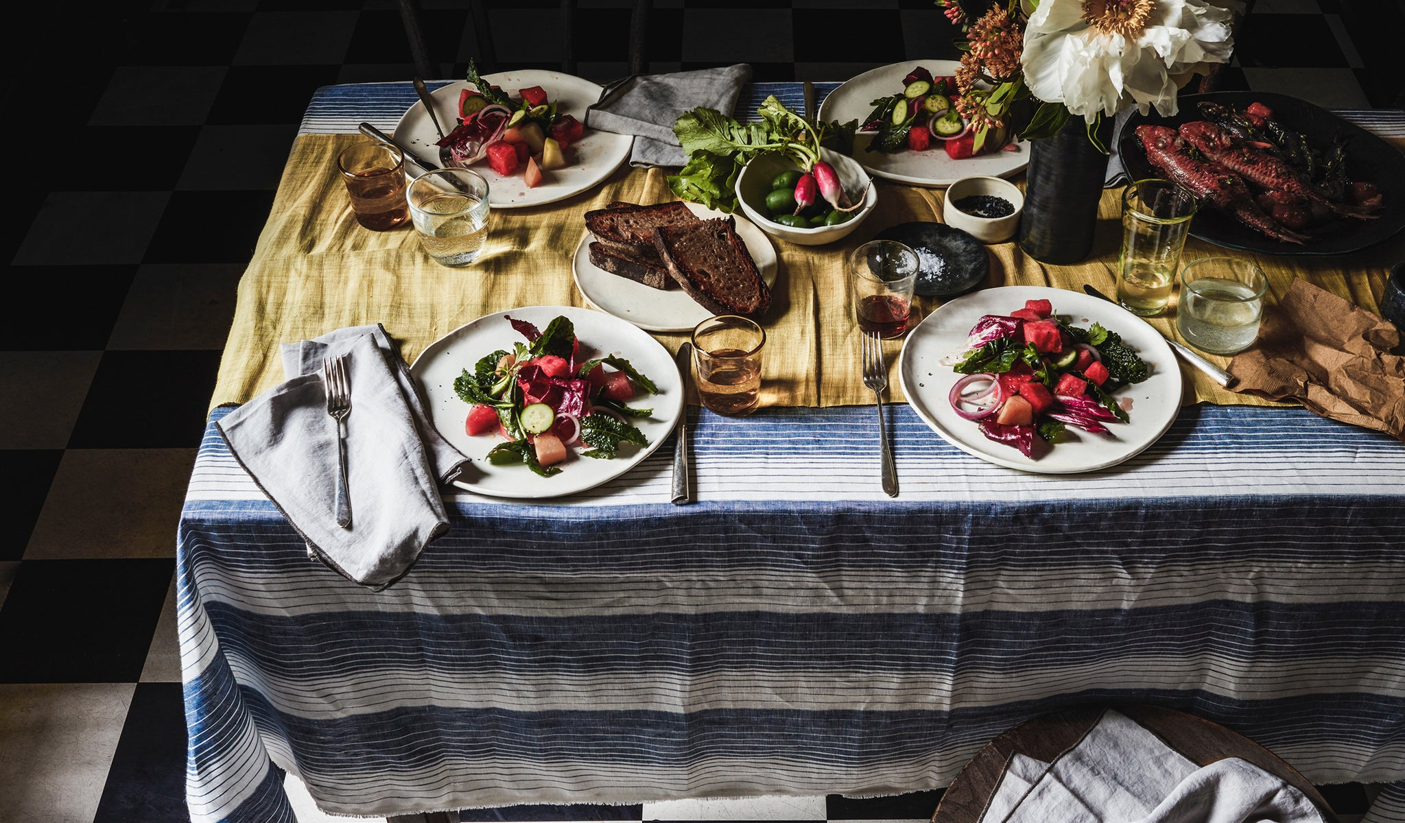 DBO HOME tablescape with Sarah Smart