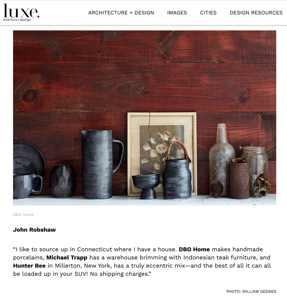 Press Luxe Intertiors Design Top Designers Unique Furnishings John Robshaw DBO HOME