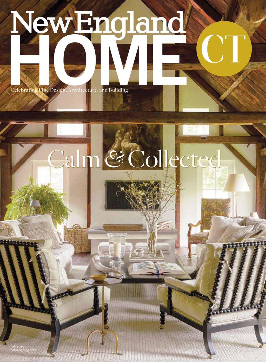 New England Home Connecticut Cover Print Featuring DBO HOME Artisan Furniture and Ceramics